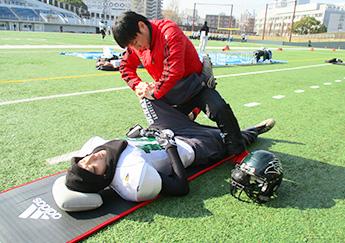 オリンピック競泳競技帯同の柔道整復師による実技体験会