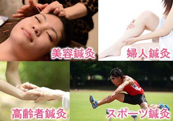 「美容鍼灸」「スポーツ鍼灸」「婦人鍼灸」「高齢者鍼灸」を学ぼう!